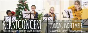 aankondiging kerstuitvoering van het Muziekcentrum Rotterdam